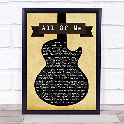 John Legend All of Me Black - Póster con cita de licra para ...