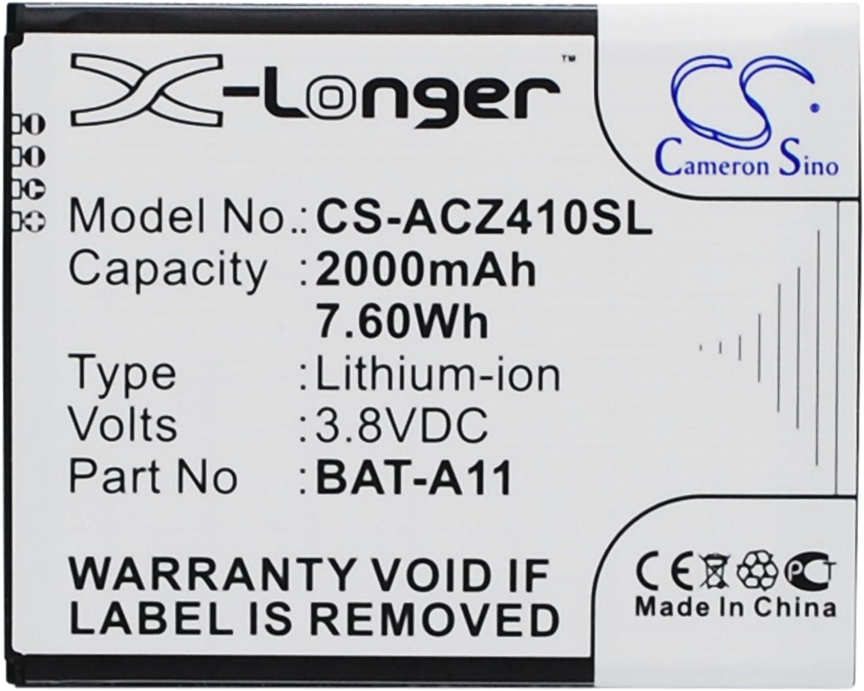 Acer BAT-A11 2000mAh X-Longer Battery for Acer Liquid M330, Liquid M330 Dual SIM, Liquid M330 LTE, Liquid Z320, Liquid Z320 Dual SIM