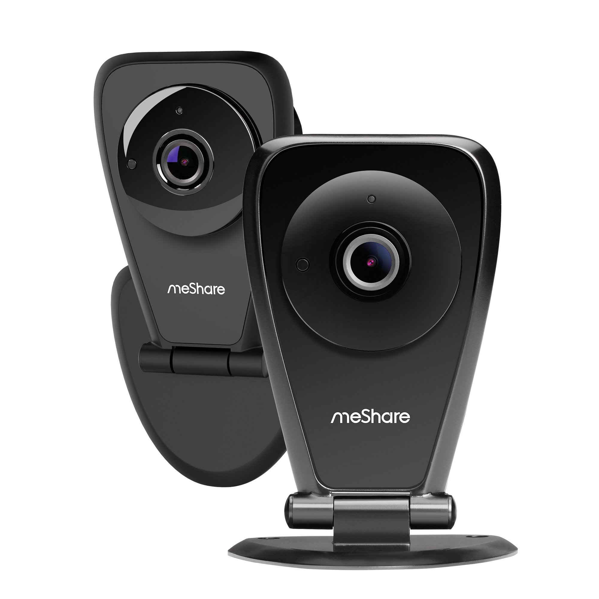 meShare Security Camera 1080p - 2 Pack Home Camera Indoor Wireless Cloud Cam System with Night Vision, Motion Detection, and Two Way Audio, Works with Alexa 【Free 6-Month Cloud Service】