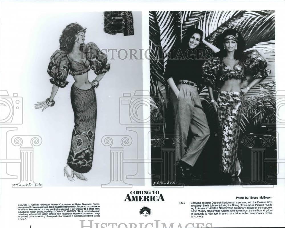 1988 Press Photo Deborah Nadooiman Sheila Johnson On Set Of Coming To America Amazon Ca Home Kitchen
