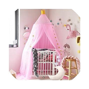 Amazon.com: Cortina de cama con forma de cúpula para cama de ...