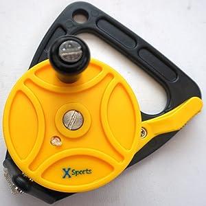 Scuba Choice Scuba Diving Compact Finger Spool with Plastic Handle 65 Orange Line