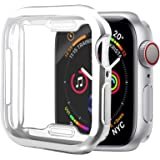 [1 Pack] ALADRS Screen Protector Case for Apple Watch 44mm, Full Protective HD Ultra-Thin Cover Compatible with iWatch Series