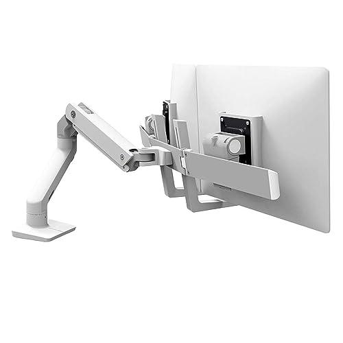 LXアームよりも外形を25%細くし、スタイリッシュで上品な仕上げが特徴のモニターアーム。垂直面に取り付けるウォールマウントベースは、回転範囲が180°に制限されているため、アームと壁の接触を防げる。  もちろん、配置の自由度と、思った位置でピタッと止まる使い勝手の良さは健在。VESA規格75×75mm/100×100mm、耐荷重3.2?9.1kg、34インチのモニターまで対応する。
