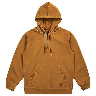 Brixton Mens Longman 1//2 Zip Hood Fleece