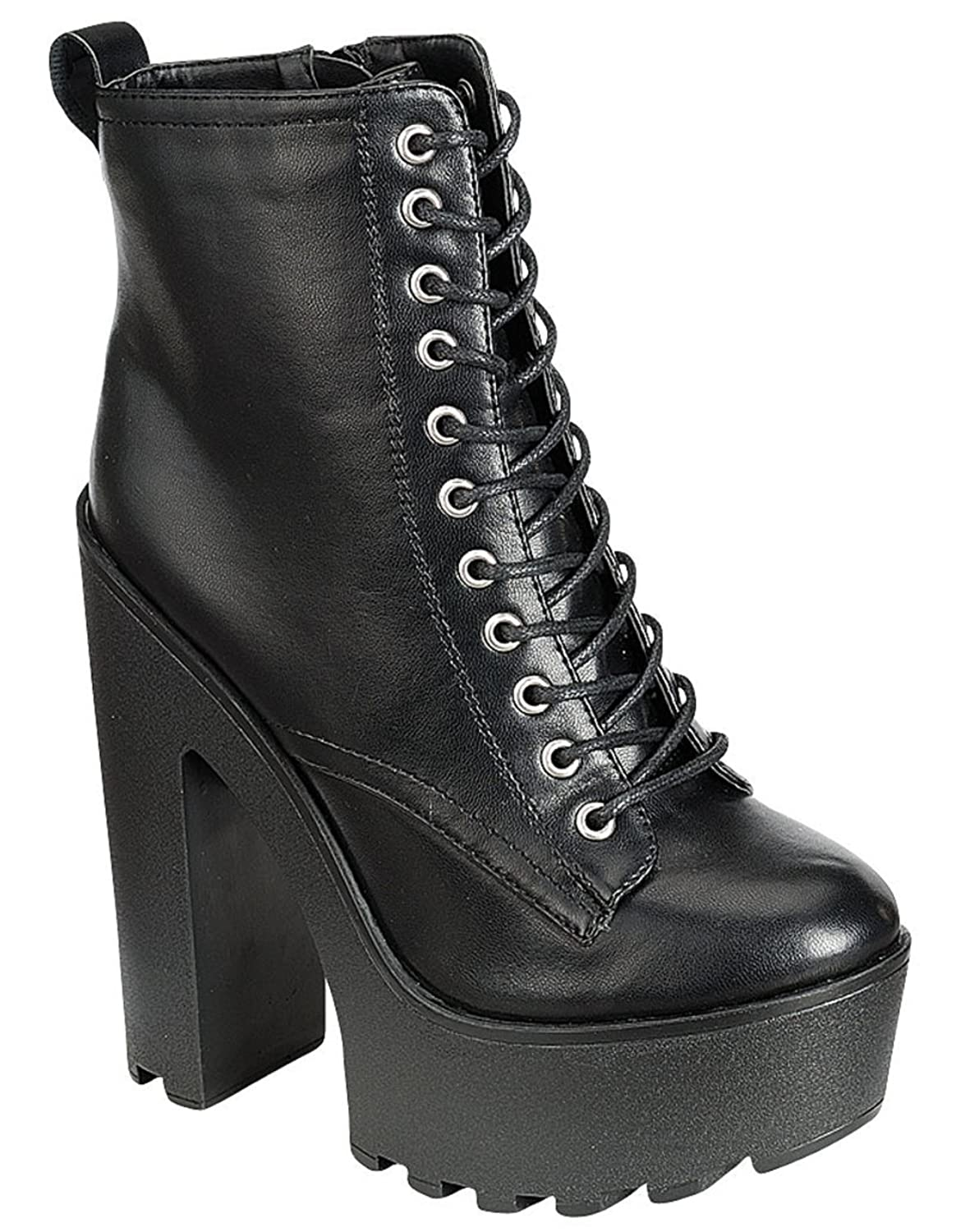 info for 7ef2d f0283 Breckelle s Shoes Breckelles Jamie-11 Chunky Heel Platform Booties durable  service