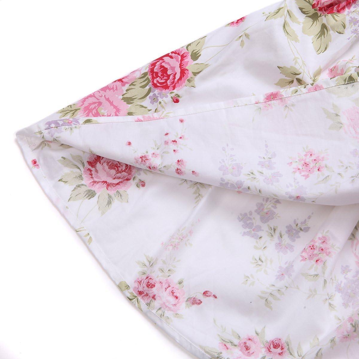 Flofallzique Summer Girls Dress Floral Cotton Casual Toddler Sundress Sleeveless