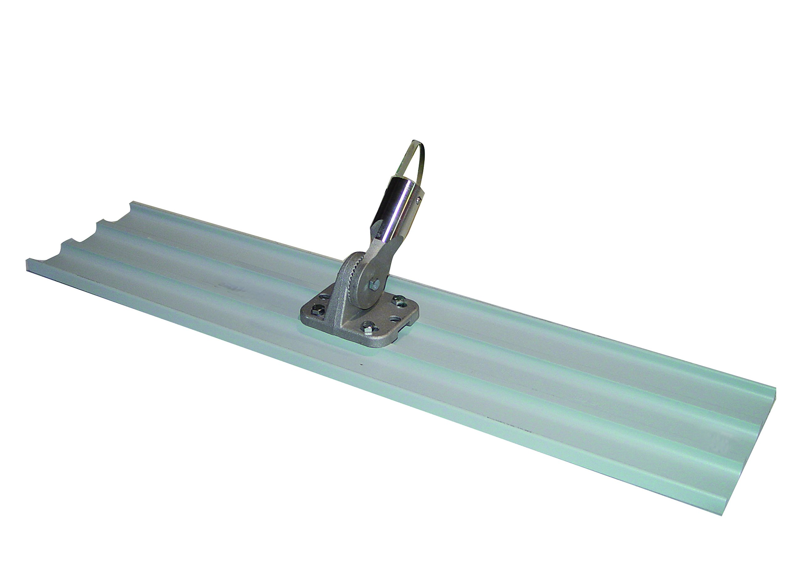 Bon 82-446 45-Inch by 8-Inch Square End Magnesium Concrete Bull Float with Universal Button Hole Bracket