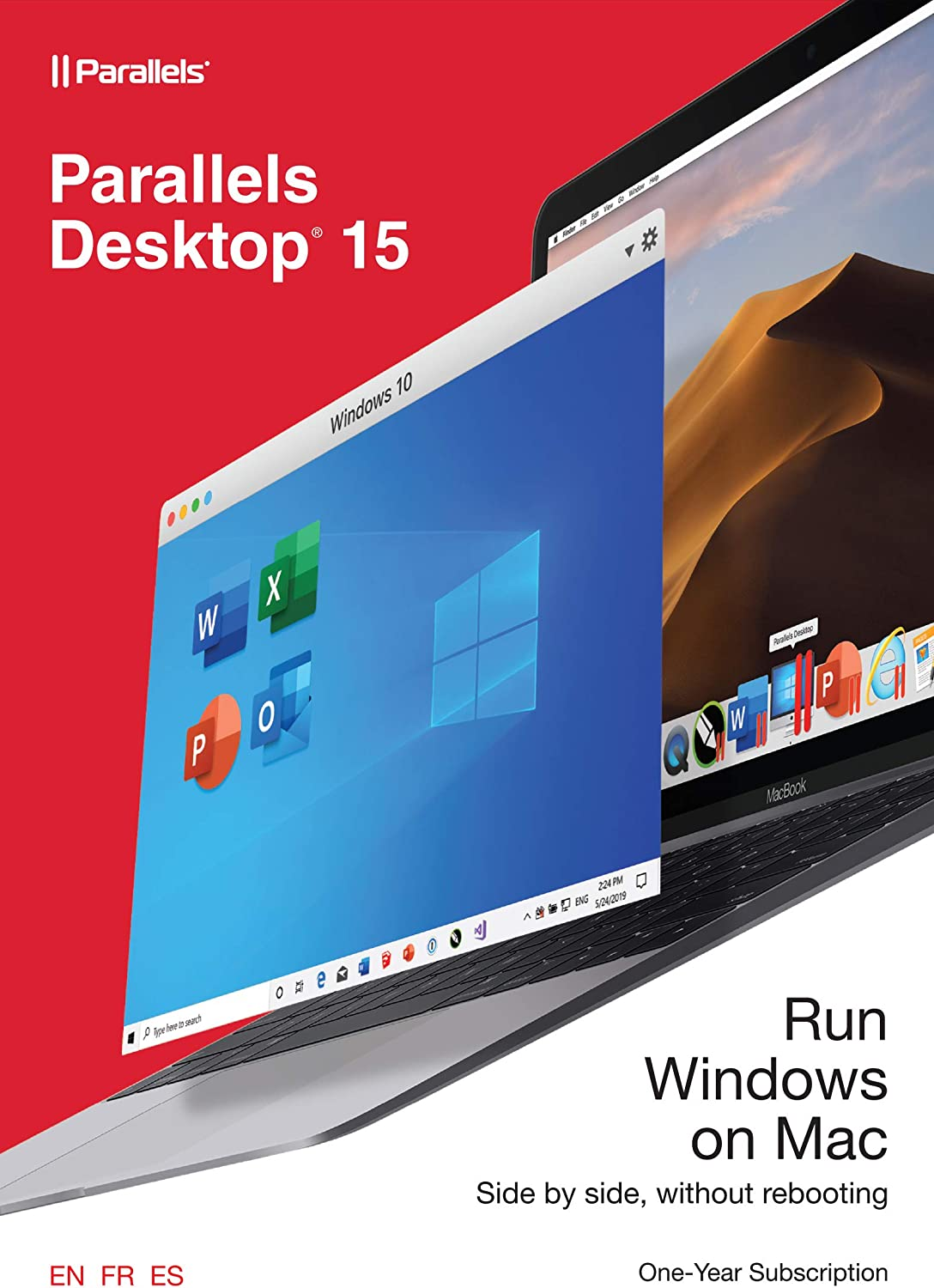 Parallels Desktop 15 for Mac, 1-Year Subscription [Mac Online Code] [Old Version]