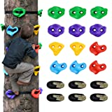 12 Ninja Tree Climbing Holds for Kids Climber, Adult Climbing Rocks with 6 Ratchet Straps for Outdoor Ninja Warrior Obstacle