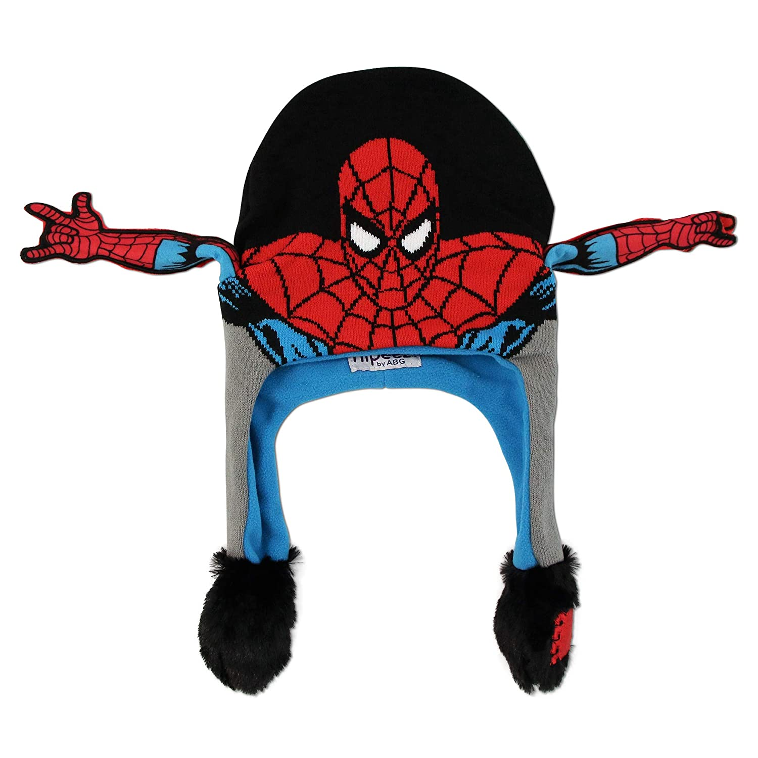 Marvel Boys' Little Spiderman Squeeze and Flap Fun Cold Weather Hat, Multi/Color, Age 4-18 SMZ02888AP