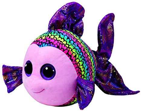 47dec4c0a95 Buy TY Beanie Boo Flippy - Multicolored Fish Large Plush Online at Low  Prices in India - Amazon.in