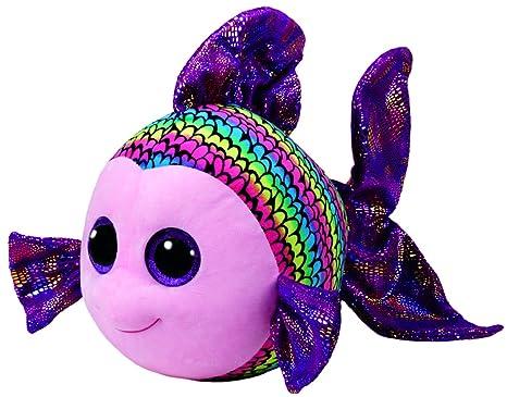 4b85815eb8a Amazon.com  Ty Beanie Boos - FLIPPY the Fish (Glitter Eyes) (LARGE ...