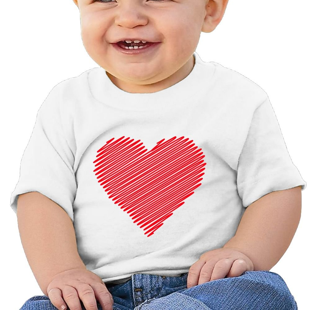 REBELN Stripe Love Heart Cotton Short Sleeve T Shirts For Baby Toddler Infant