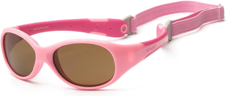 Hot Pink Orange KOOLSUN Flex Baby Sunglasses 0-3 Years