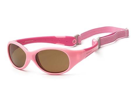 Gafas de sol para koolsun Baby Flex niña 3 – 6 años | Rosa & Hot | 100% protección UV | con desmontable Diadema | Optical Clas 1, cat. 3