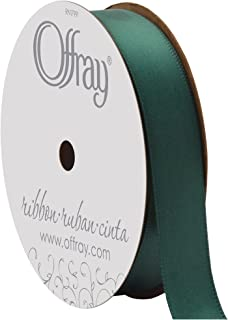 "product image for Berwick Offray 069257 5/8"" Wide Single Face Satin Ribbon, Forest Green, 6 Yds"