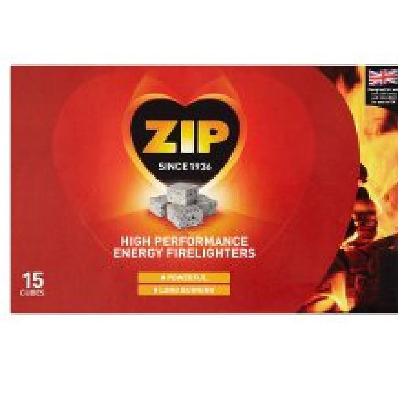 6 PACKS OF NEW DESIGN 15 BLOCKS ZIP FIRELIGHTER FIRE LIGHTER STARTER BRICKS HIGH PERFORMANCE