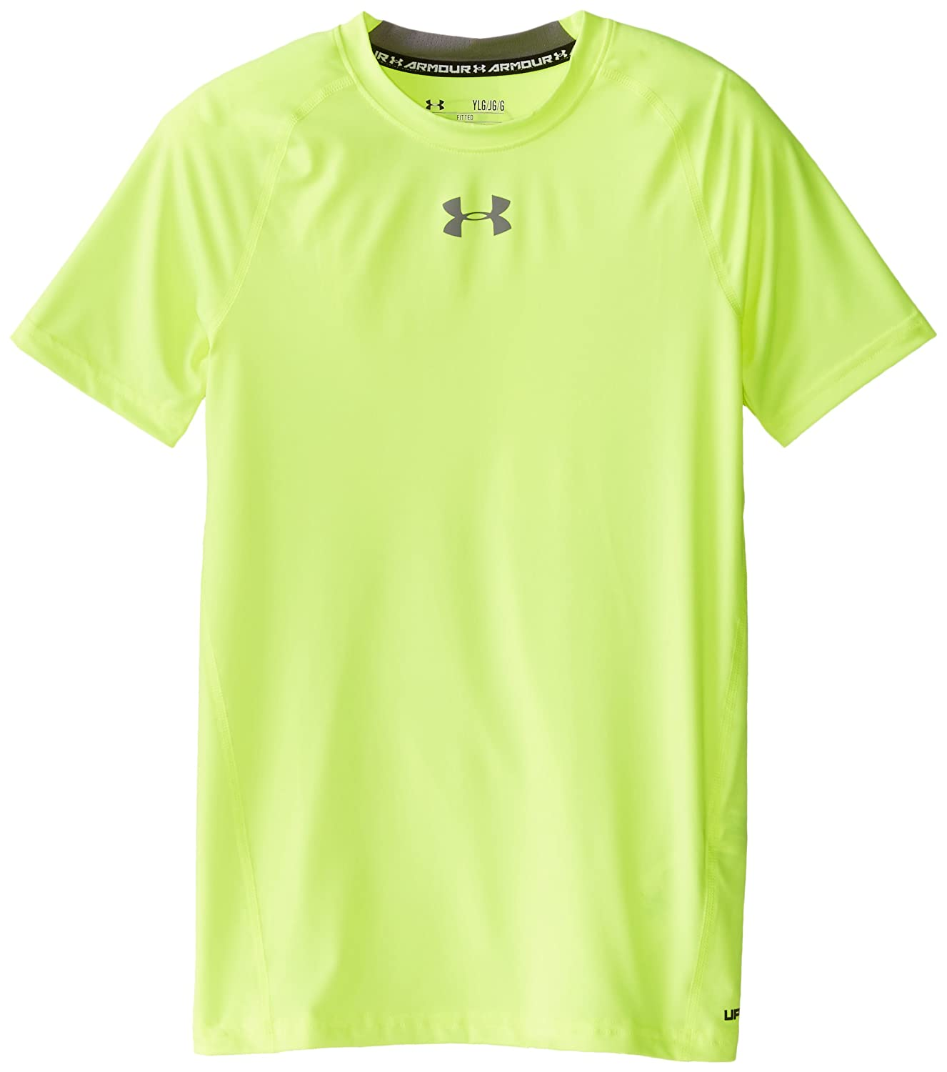 Under Armour Boys' HeatGear Armour Short Sleeve Fitted Shirt Under Armour Apparel 1253815-400