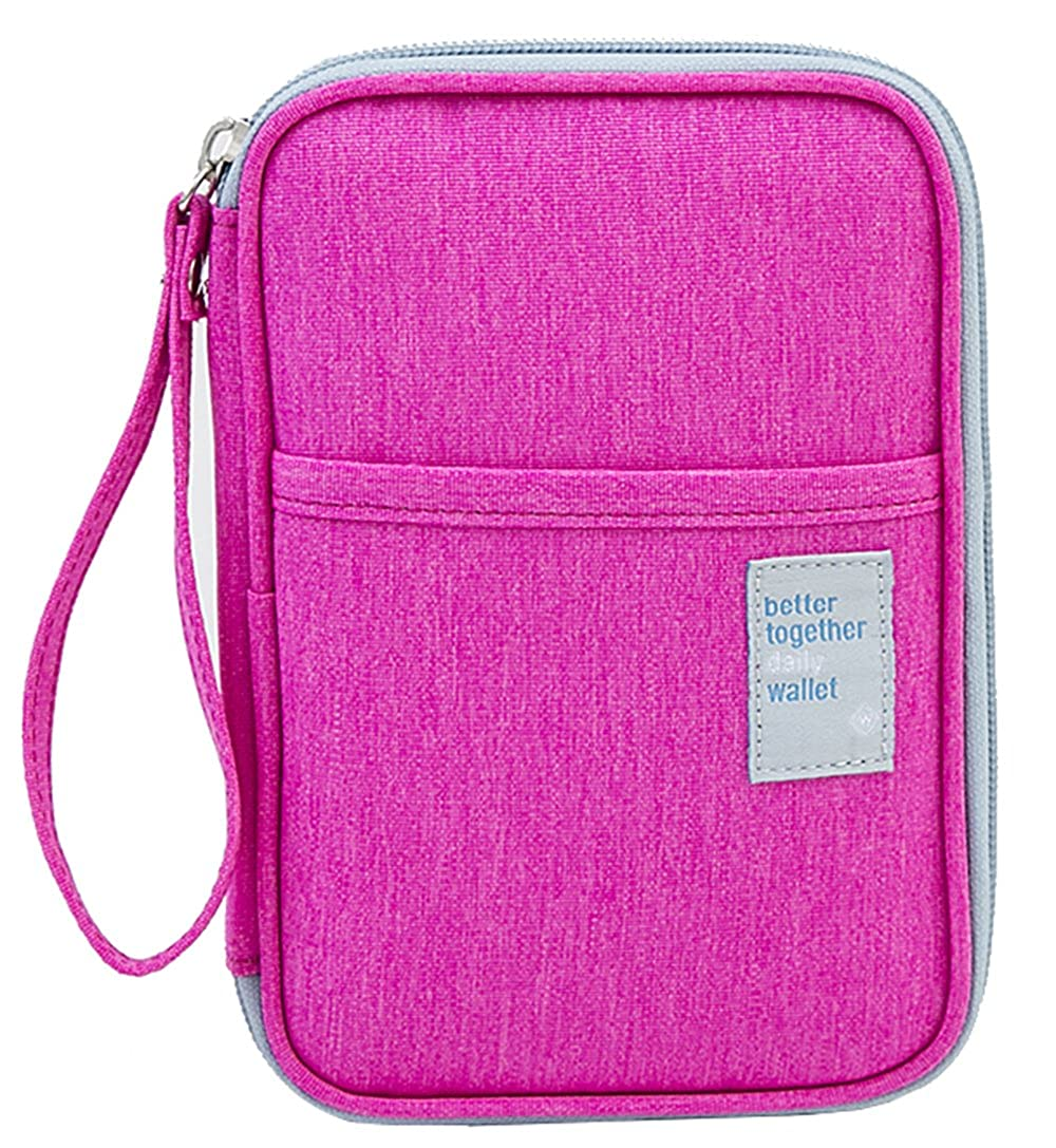 iSuperb Large Capacity Waterproof Family Travel Passport Wallet Holder Card Case