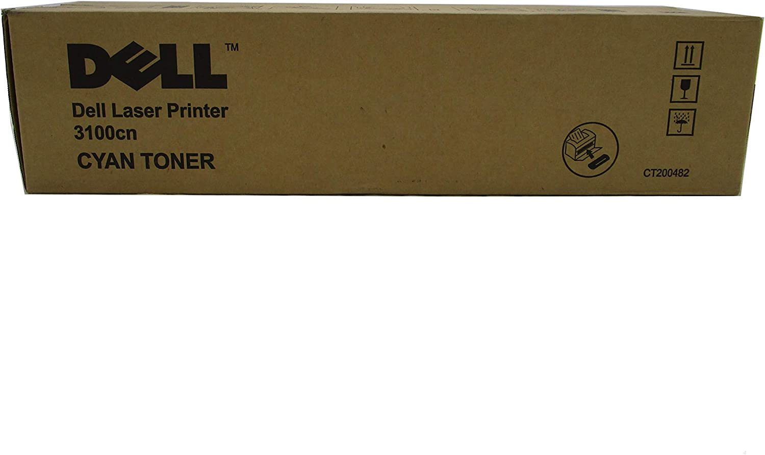 Dell K4973 CT200482 3100CN Laser Toner Cartridge (Cyan) in Retail Packaging