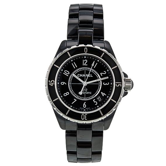 Chanel J12 H0685 negro cerámica y acero inoxidable 38 mm automático reloj de pulsera de mujer: Amazon.es: Relojes