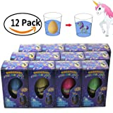 Unicorn Hatching, Growing, Easter Eggs with Mini Unicorn Inside for Kids Easter Gifts Toys (12 Pack)
