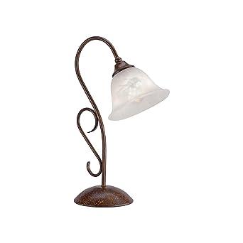 Antik Messing Büro Schreib Nacht Tisch Lampe Leuchte Landhaus-Stil Beleuchtung