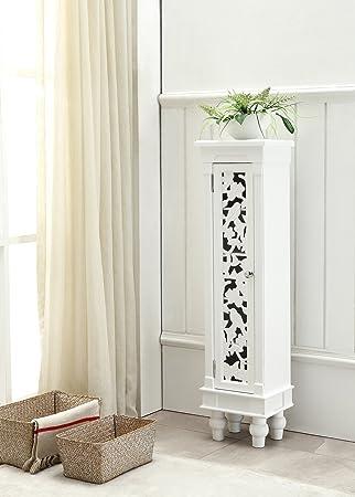 Telefontisch Beistelltisch Kommode Weiss Landhaus Antik Holz Schmuckschrank Schrnkchen Barock Wohnzimmer Flur Diele
