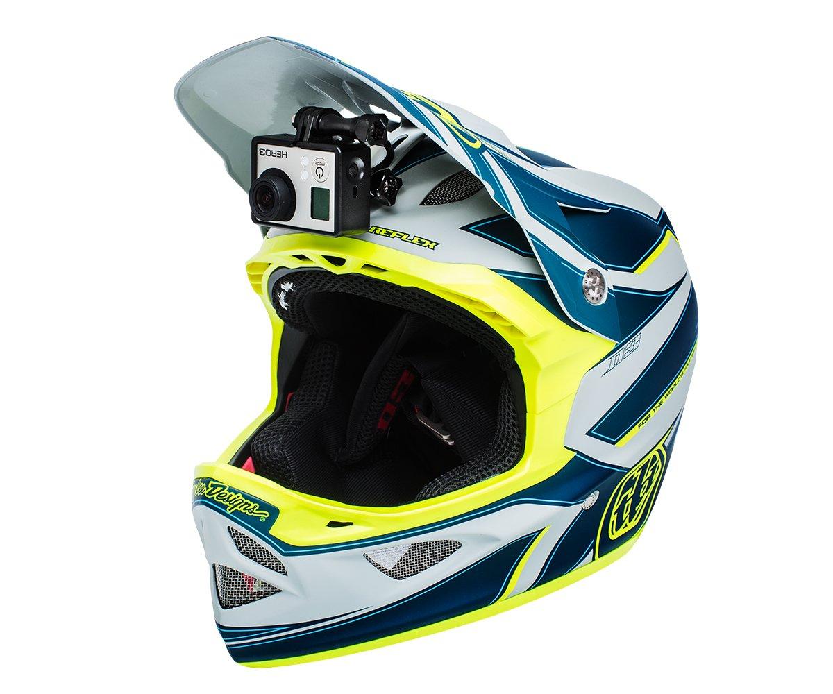 NINJA MOUNT soporte camara de acción para casco fullface, compatible con GoPro, Garmin & Rollei | sujeción especial para cascos Downhill/ATV/ Motocross, ...