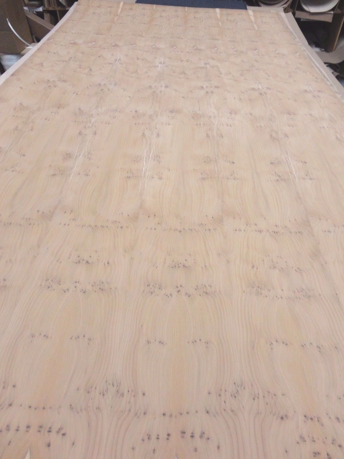 Yew Knotty wood veneer sheet 48'' x 96'' with wood backer 1/20th'' thickness roll