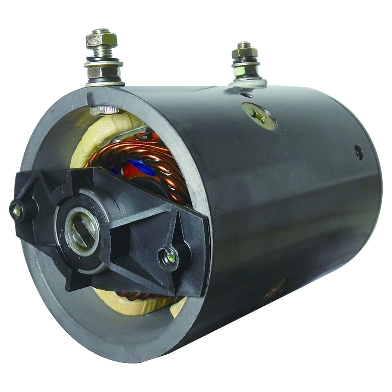 NEW WATEROUS FIRE EQUIPMENT PUMP MOTOR 12V CW SLOTTED SHAFT 2- POST MUE6210