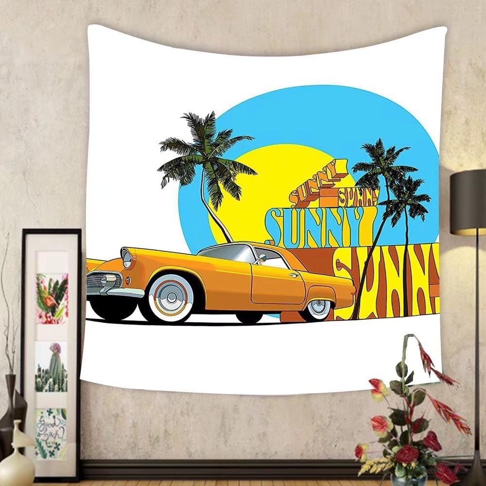 Gzhihine Custom tapestry 1950s Decor Tapestry Vintage Grunge Style Pop Corn Commercial Print Old Fashioned Cinema Movie Film Snack Artsy Work Bedroom Living Room Dorm Decor 60 x 80 Multi