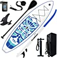 "FunWater Inflatable 10'6×33""×6"" Ultra-Light (17.6lbs) SUP for All Skill Levels Everything Included with Stand Up Paddle Board, Adj Paddle, Pump, ISUP Travel Backpack, Leash, Waterproof Bag"