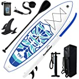 "FunWater Inflatable 10'6×33""×6"" Ultra-Light (17.6lbs) SUP for All Skill Levels Everything Included with Stand Up Paddle Board"