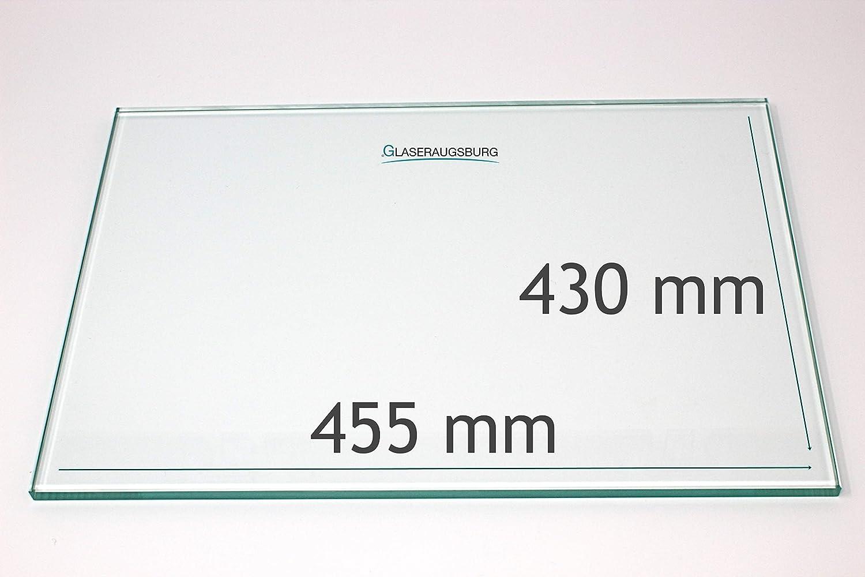 455 mm x 430 mm Glasplatte//Glasregal Klarglas 4 mm stark alle Ma/ße lieferbar