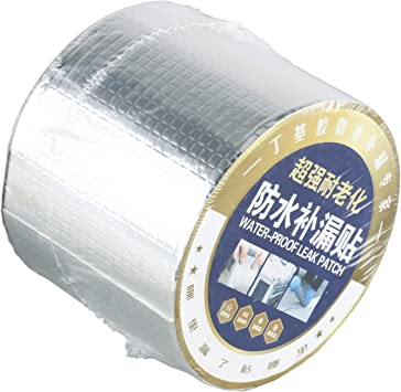 """Homend Butyl Seal Tape Strong Adhesive Non-Toxic Roof Vent RV Patch Sealant Tape for Mobile Home Window RV Flashing Tape 4/"""" Width x 50 Length"""