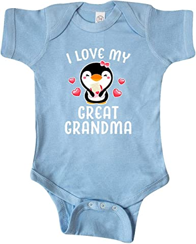 inktastic I Love My Granma with Cute Penguin and Hearts Toddler T-Shirt