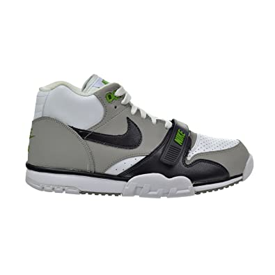 Nike Air Trainer 1 Mid Premium Men's Shoes White/Black/Neutral Grey /Chlorophyll