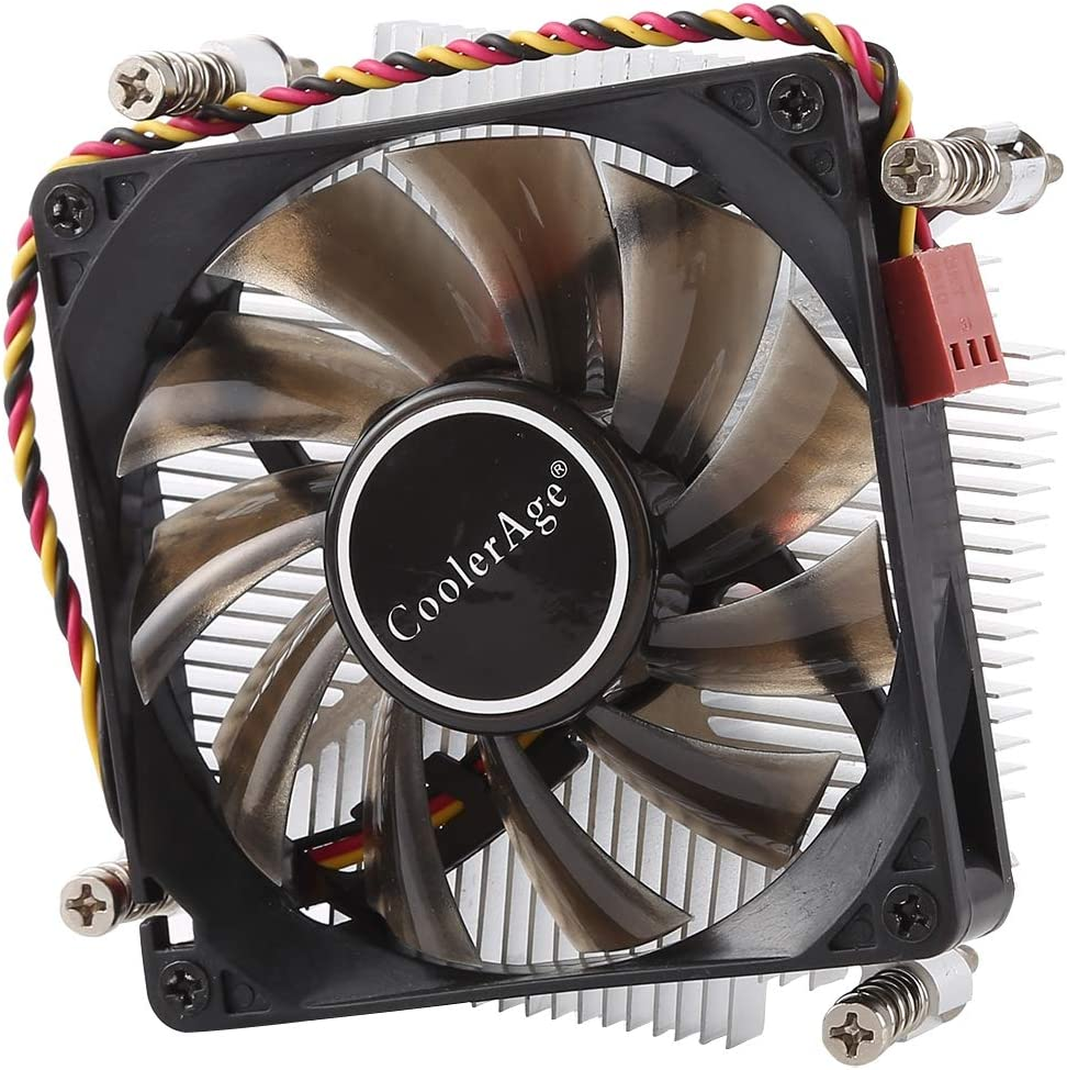 WQFStore DC 12V 2000PRM 30.5cfm Copper Core Heatsink Hydraulic Bearing Cooling Fan CPU Cooling Fan for Intel 1150 1156 1151