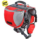 Lifeunion Adjustable Service Dog Supply Backpack Saddle Bag for Camping Hiking Training