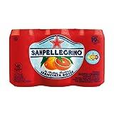 Sanpellegrino Blood Orange Sparkling Fruit Beverage, 11.15 fl oz. Cans (6 Count)