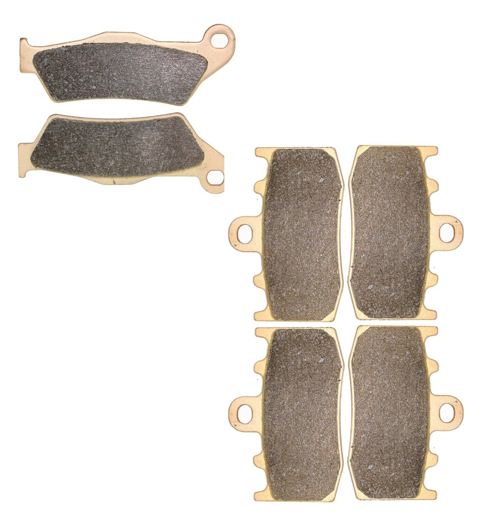 CNBK Sintering Brake Shoe Pads Set for BMW Street Bike R1200 R1200GS R 1200 cc 1200cc GS Triple Black Spoke wheel 2011 2012 2013 2014 2015 11 12 13 14 15 6 Pads
