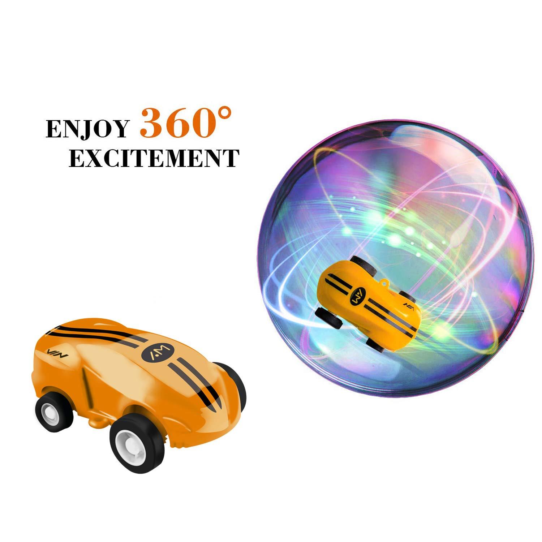Amarillo-2pcs 1:63 Racer Modelo de Coche para Ni/ños Coche Carrera de Rotaci/ón 360 /° Stunt Coche AGAKY Mini Coches de Juguete Recargables Veh/ículo Juguetes Mini Coche Giratorio de Alta Velocidad