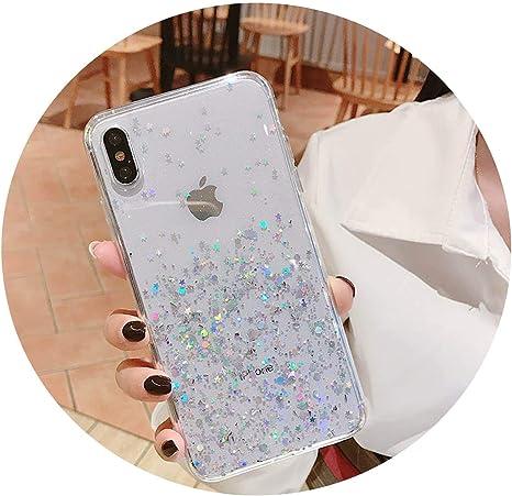 Simon-Stark Coque paillettes pour iPhone 8 7 Plus 6 6s Epoxy Star ...
