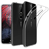 Newlike Bumper Protective & Anti Shockproof Back Case For Nokia 6.1 Plus 2018 Back Cover Case - Transparent