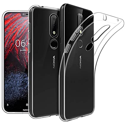 lowest price 1fee8 6b6ff Newlike Bumper Protective & Anti Shockproof Back Case For Nokia 6.1 Plus  2018 Back Cover Case - Transparent