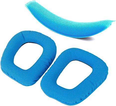 Blue Replacement Ear Pads For Logitech G430 G930 Headphones Headband Cushion Pad
