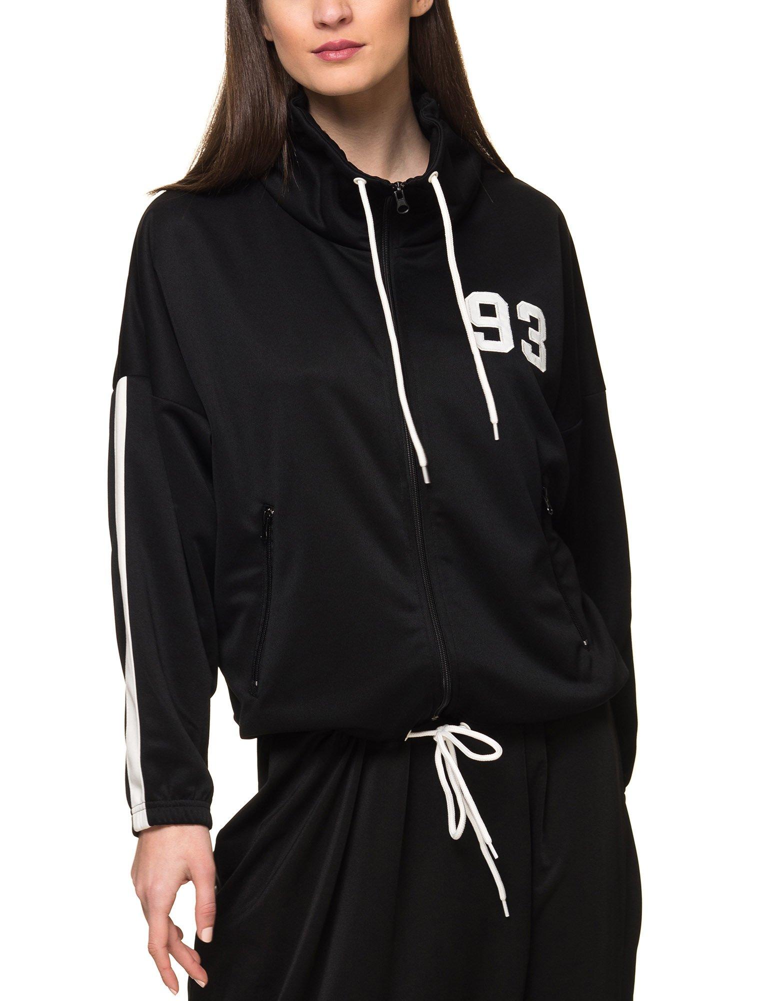 Franklin & Marshall Women's Women's Black Zip Sweatshirt In Size L Black