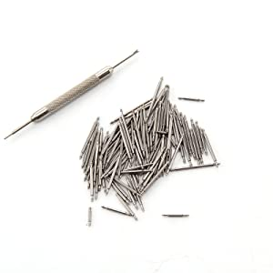 AllRight 108 Pcs 8-25mm Stainless Steel Watch Band Spring Bars Link Pins
